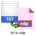 txt-to-odp-converter